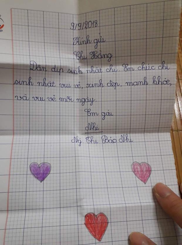 Món quà sinh nhật dễ thương của cậu em trai kém 13 tuổi tặng chị gái khiến dân mạng thích thú, nhiều chàng trai còn tự nhận vơ anh rể - Ảnh 5.