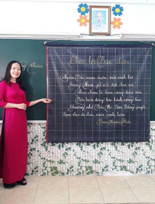 Xuất hiện đối thủ của các giáo viên Quảng Trị: 16 cô giáo Vũng Tàu viết bảng đẹp như rồng bay phượng múa - Ảnh 5.