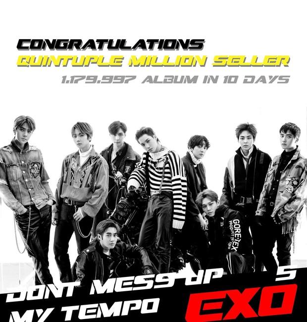 EXO chính thức làm nên lịch sử với kỉ lục mà chưa một nghệ sĩ Kpop nào làm được trong gần 20 năm qua - Ảnh 1.