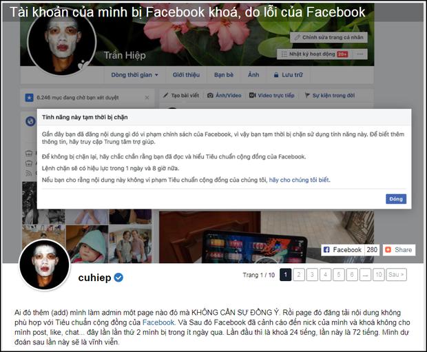 Facebook cá nhân Sơn Tùng M-TP và Linh Ngọc Đàm biến mất, nhiều người khác bị khóa tài khoản - Ảnh 3.