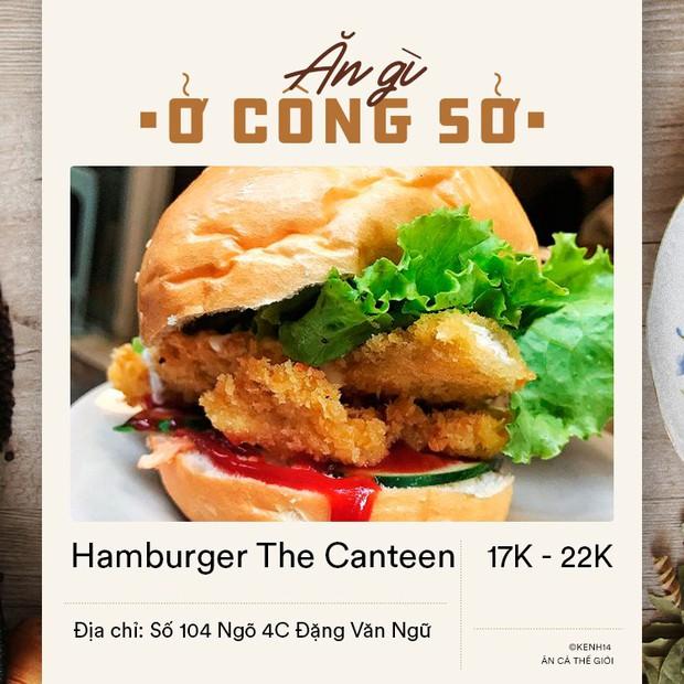Dân văn phòng ở Hà Nội sáng mai có vội đi làm thì đừng bỏ qua 4 địa chỉ bán hamburger đầy đặn mà giá chỉ từ 15k dưới đây - Ảnh 1.