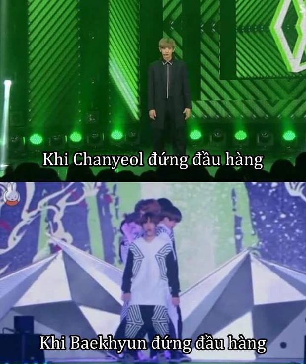 Nặng nghiệp như Chanyeol (EXO): Cao 1m86, đứng đầu hàng không ai nhìn thấy đội hình đằng sau hết! - Ảnh 2.