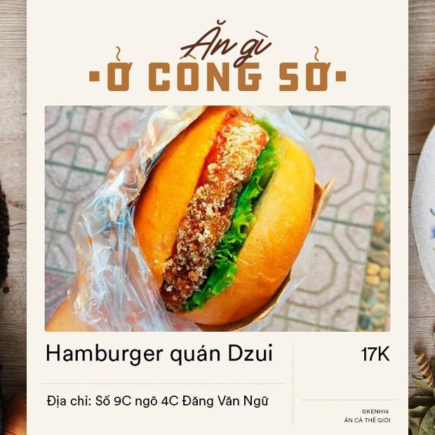 Dân văn phòng ở Hà Nội sáng mai có vội đi làm thì đừng bỏ qua 4 địa chỉ bán hamburger đầy đặn mà giá chỉ từ 15k dưới đây - Ảnh 4.