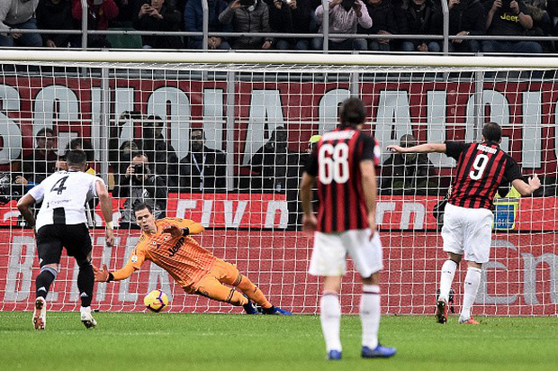Đá hỏng phạt đền, ăn thẻ đỏ cuối trận, Higuain ngậm ngùi nhìn Ronaldo ghi bàn chôn vùi AC Milan - Ảnh 3.