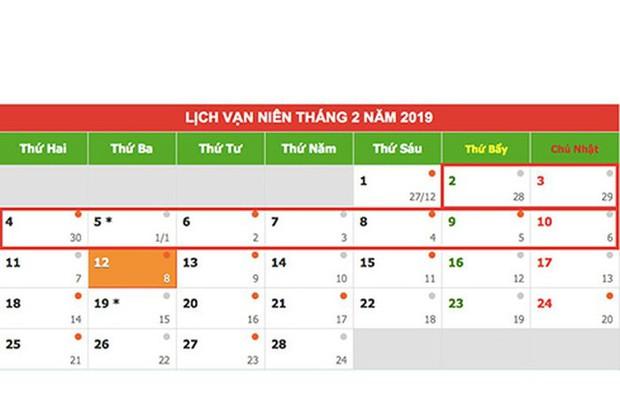 Lịch nghỉ tết 2019: Tết dương lịch và Tết Nguyên đán được nghỉ dài hơn - Ảnh 4.