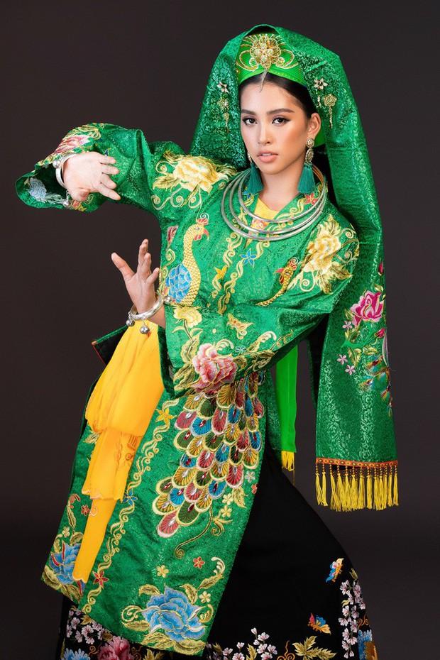 Hoa hậu Tiểu Vy múa điệu Chầu Văn Cô đôi thượng ngàn trong phần thi Dance Of The World - Ảnh 3.