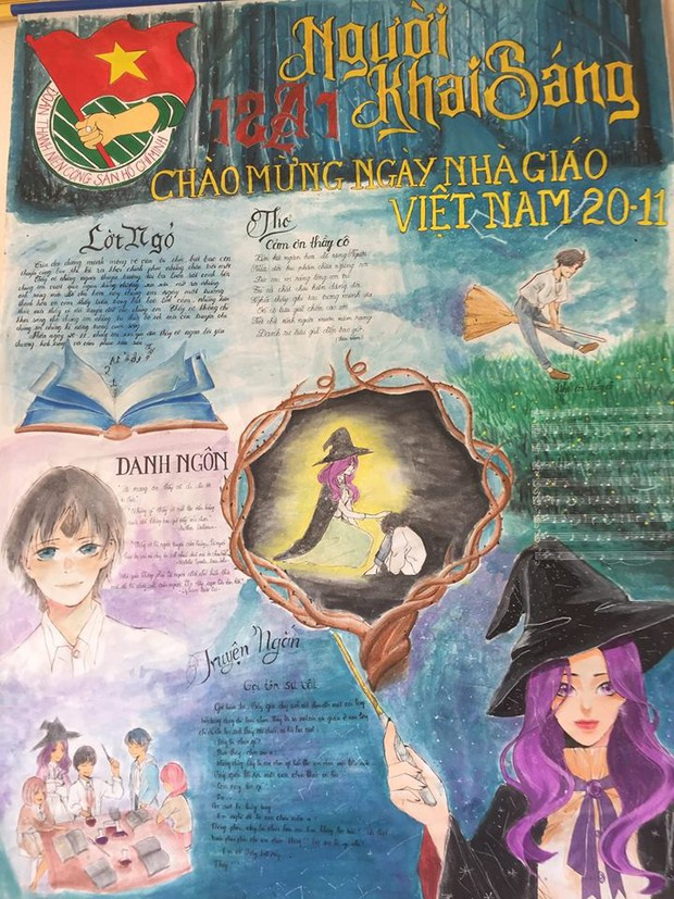 Khi 10x làm báo tường: Từ Harry Potter đến Diên Hy Công Lược đều được tận dụng triệt để - Ảnh 1.