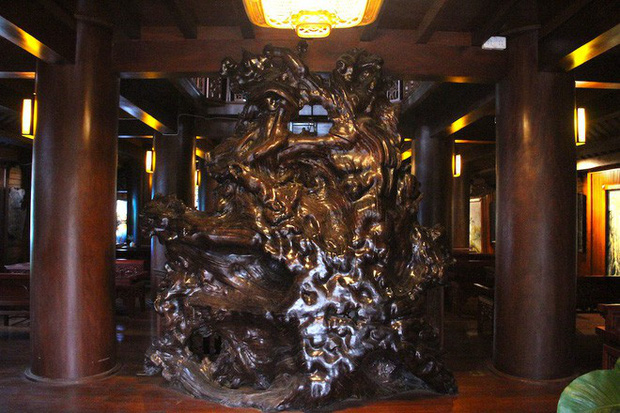 Ngắm cảnh xa hoa bên trong ngôi nhà gỗ trăm tỷ của đại gia Hà Tĩnh - Ảnh 18.