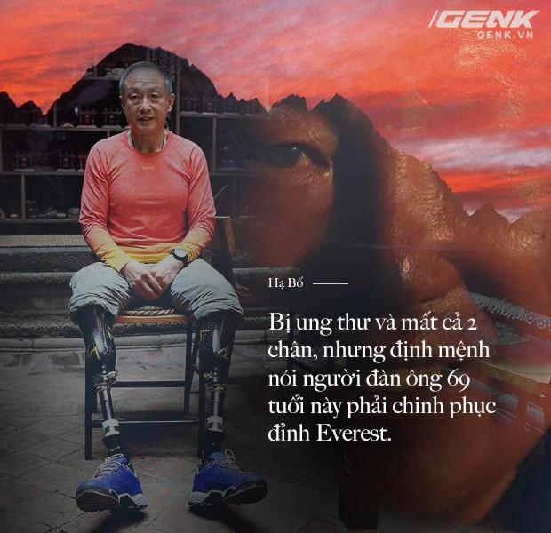 Bị ung thư và mất cả 2 chân, nhưng định mệnh nói người đàn ông 69 tuổi này phải chinh phục đỉnh Everest - Ảnh 1.