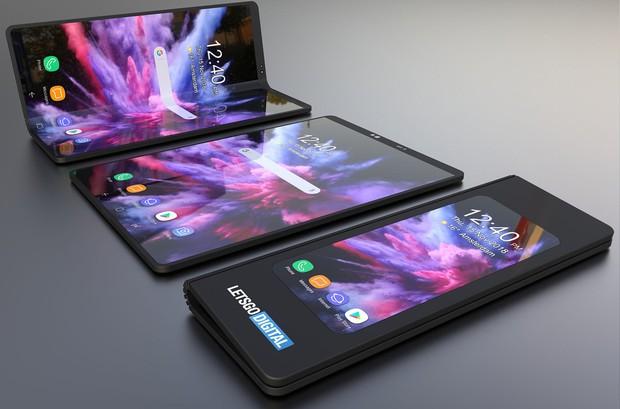 Smartphone màn hình gập của Samsung sẽ trông ảo tung chảo đến thế này sao? - Ảnh 3.