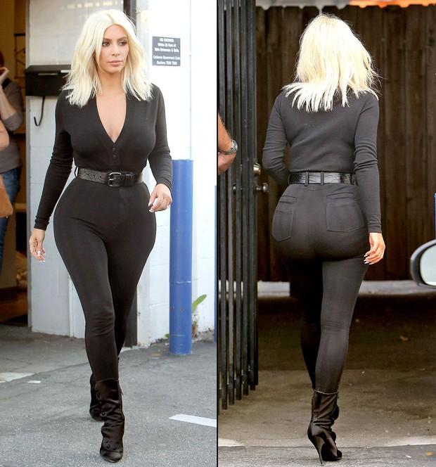 Vòng 3 đã khủng lại còn mặc quần ánh bạc, Kim Kardashian bị nhận xét trông như... trái bóng tập gym - Ảnh 7.
