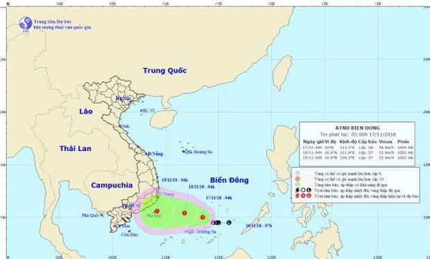 Các tỉnh phía Nam đối phó với áp thấp nhiệt đới mới hình thành, miền Bắc đón không khí lạnh, trời rét từ 19/11 - Ảnh 1.