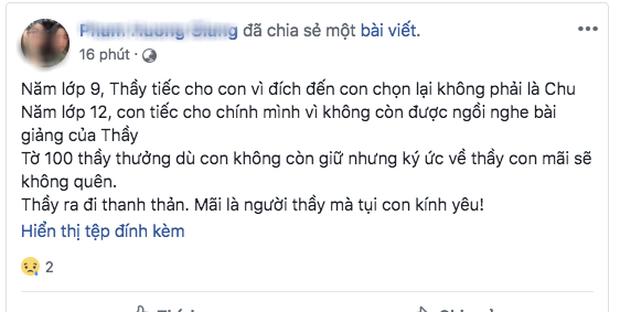Phó hiệu trưởng trường Chu Văn An qua đời, nhiều thế hệ học sinh bày tỏ sự đau buồn trên MXH - Ảnh 4.