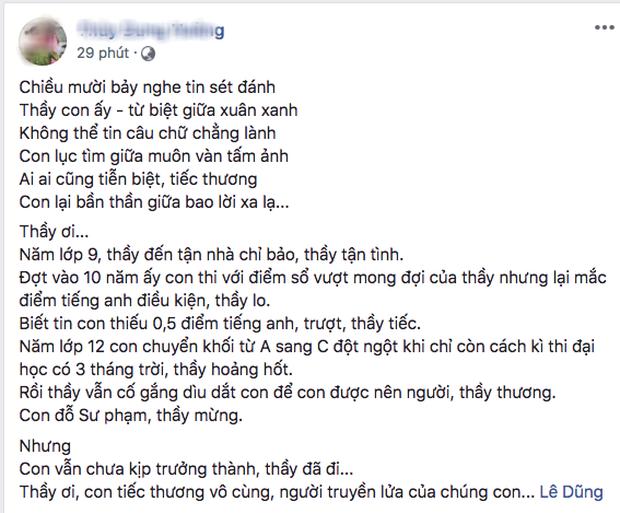 Phó hiệu trưởng trường Chu Văn An qua đời, nhiều thế hệ học sinh bày tỏ sự đau buồn trên MXH - Ảnh 3.
