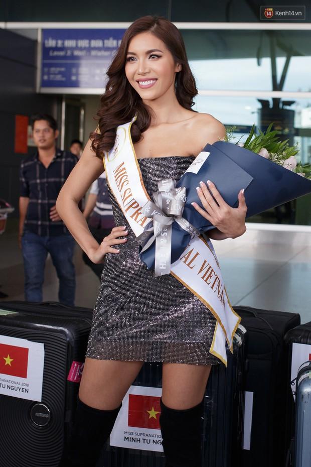 Minh Tú xuất hiện nổi bật tại sân bay, khởi hành đi Ba Lan chinh phục vương miện Miss Supranational 2018 - Ảnh 3.