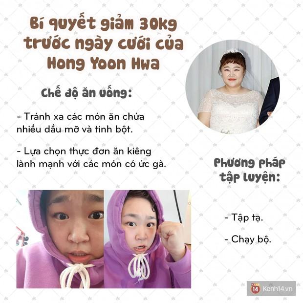 Bí quyết nào đã giúp nữ danh hài Hong Yoon Hwa giảm tới 30kg trước ngày tổ chức lễ thành hôn của mình? - Ảnh 5.