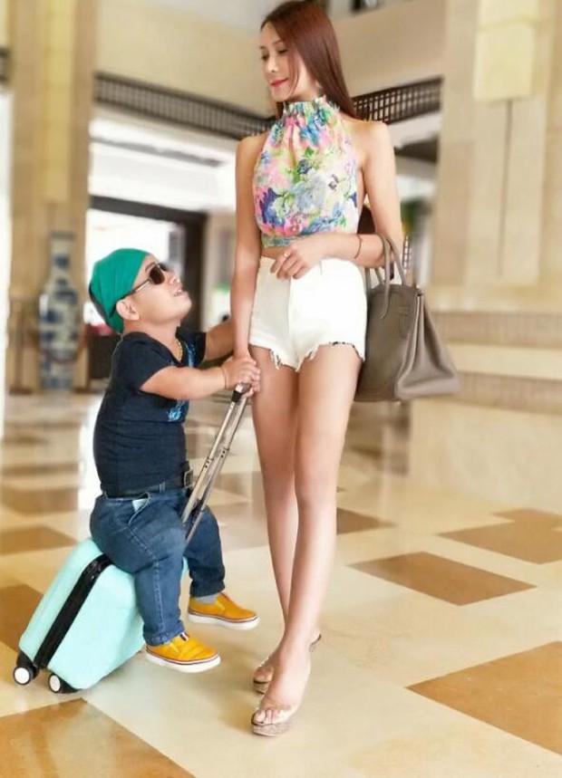 Phan Kim Liên Cung Nguyệt Phi hớn hở đi chụp ảnh cưới với bạn trai cao 2m3 sau khi chia tay tình cũ 1m1 - Ảnh 2.