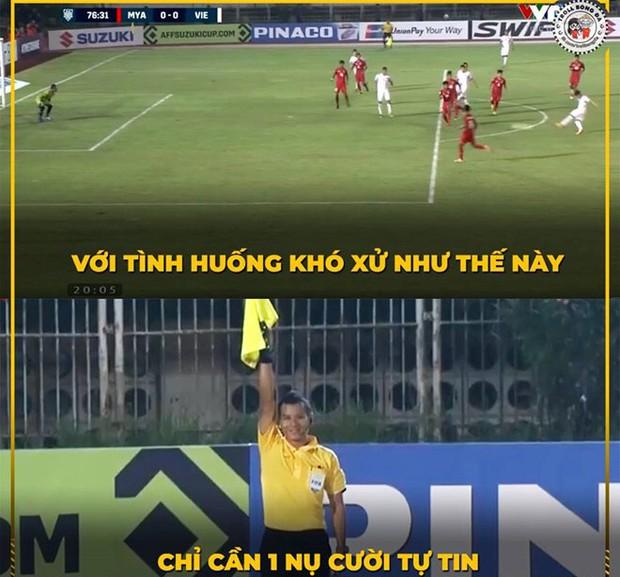 Đến fan Myanmar cũng thừa nhận trọng tài quá yếu kém khi cướp trắng bàn thắng của Việt Nam - Ảnh 5.