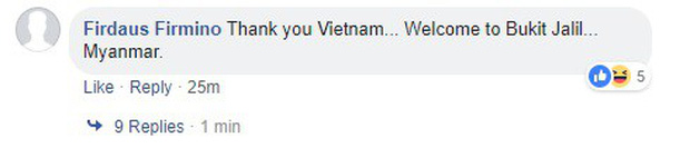 CĐV Malaysia cảm ơn Việt Nam, hứa sẽ đánh bại Myanmar để báo thù cho thầy trò HLV Park Hang-seo - Ảnh 3.