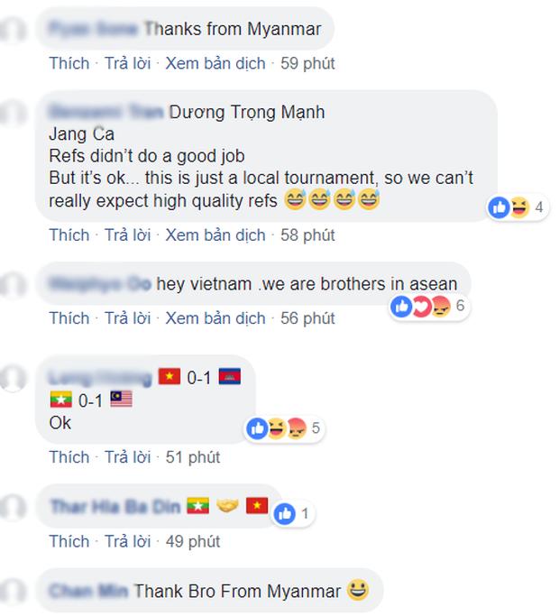 Đến fan Myanmar cũng thừa nhận trọng tài quá yếu kém khi cướp trắng bàn thắng của Việt Nam - Ảnh 4.