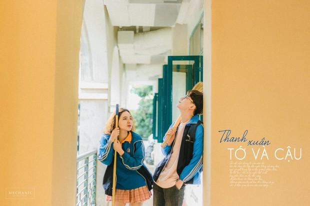 Mặc đồng phục, chụp ảnh ở những góc quen thuộc của trường, cặp đôi 10x cho ra đời bộ ảnh lãng mạn, tình bể bình - Ảnh 4.