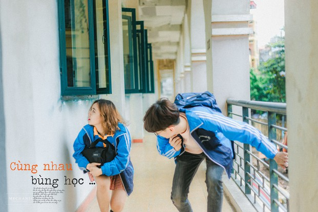 Mặc đồng phục, chụp ảnh ở những góc quen thuộc của trường, cặp đôi 10x cho ra đời bộ ảnh lãng mạn, tình bể bình - Ảnh 5.