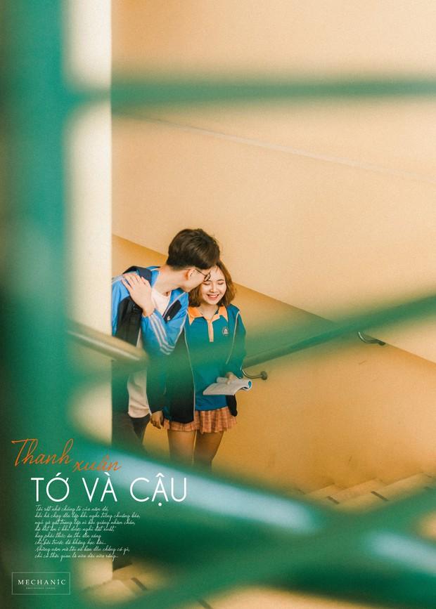 Mặc đồng phục, chụp ảnh ở những góc quen thuộc của trường, cặp đôi 10x cho ra đời bộ ảnh lãng mạn, tình bể bình - Ảnh 7.