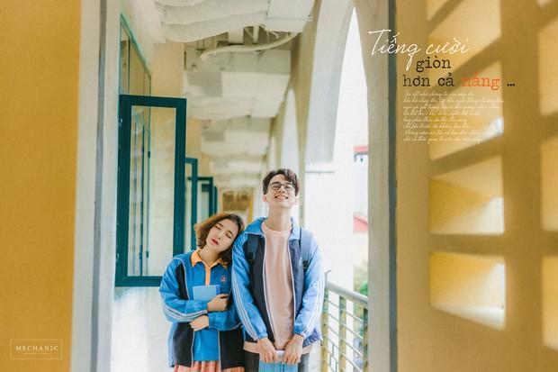 Mặc đồng phục, chụp ảnh ở những góc quen thuộc của trường, cặp đôi 10x cho ra đời bộ ảnh lãng mạn, tình bể bình - Ảnh 8.