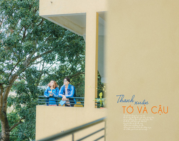 Mặc đồng phục, chụp ảnh ở những góc quen thuộc của trường, cặp đôi 10x cho ra đời bộ ảnh lãng mạn, tình bể bình - Ảnh 10.
