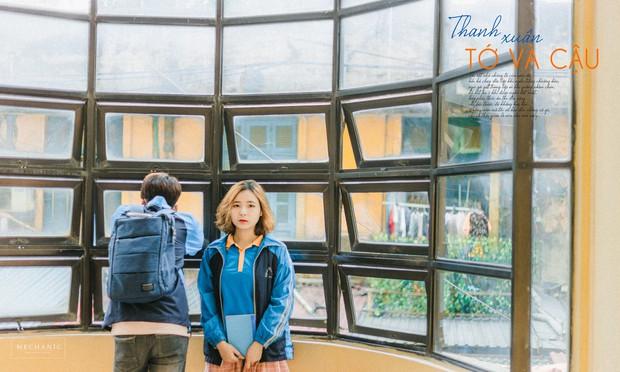 Mặc đồng phục, chụp ảnh ở những góc quen thuộc của trường, cặp đôi 10x cho ra đời bộ ảnh lãng mạn, tình bể bình - Ảnh 11.