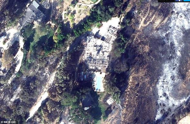 Loạt ảnh vệ tinh về khung cảnh hoang tàn tại nhà Miley Cyrus và nhiều sao khác sau đám cháy rừng ở California - Ảnh 2.