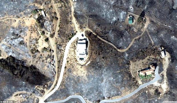 Loạt ảnh vệ tinh về khung cảnh hoang tàn tại nhà Miley Cyrus và nhiều sao khác sau đám cháy rừng ở California - Ảnh 10.