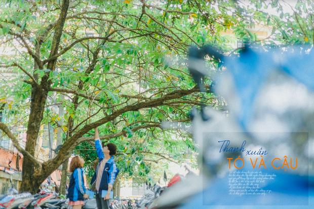 Mặc đồng phục, chụp ảnh ở những góc quen thuộc của trường, cặp đôi 10x cho ra đời bộ ảnh lãng mạn, tình bể bình - Ảnh 13.