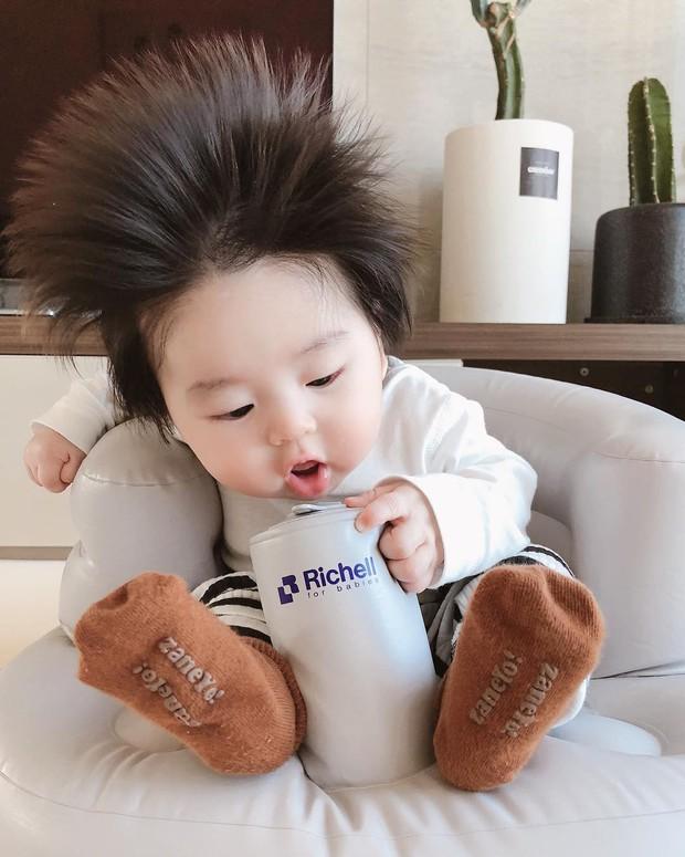 Cậu bé Hàn Quốc với quả đầu chôm chôm đáng yêu đến mức ai cũng muốn đem về nuôi - Ảnh 3.