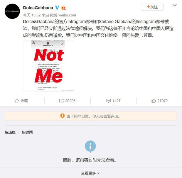 """Dolce&Gabbana dính """"phốt"""" kỳ thị người Trung Quốc, Địch Lệ Nhiệt Ba cùng loạt sao Hoa tuyên bố không tham dự show diễn của hãng - Ảnh 5."""