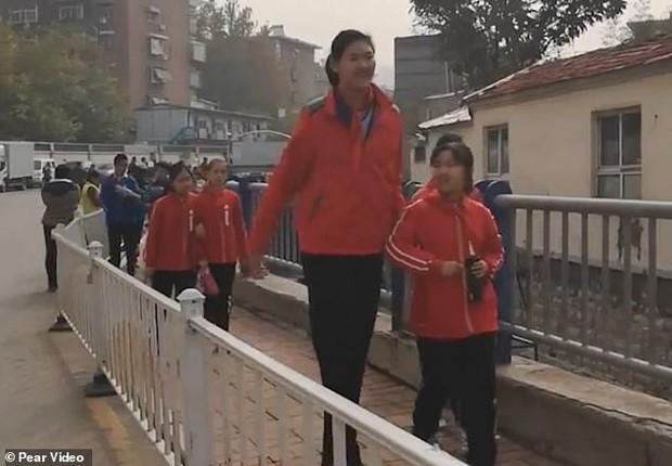 Hậu duệ của Yao Ming: Cô bé 11 tuổi đã cao hơn 2 mét gây sốt MXH Trung Quốc - Ảnh 2.