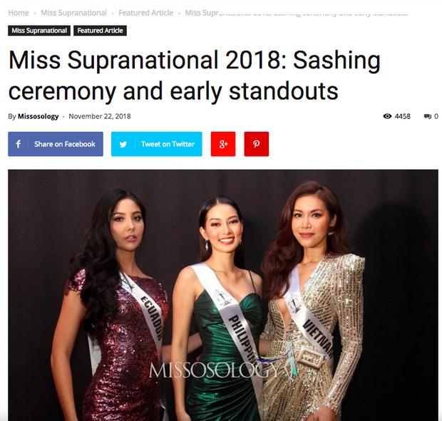 Missosology hết lời khen ngợi Minh Tú, dự đoán đại diện Việt Nam có khả năng đăng quang Miss Supranational 2018 - Ảnh 1.