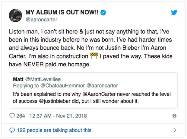 Justin Bieber đáp trả khi bị Aaron Carter mỉa mai: Nhờ tôi mà cậu ta mới được như hôm nay - Ảnh 1.