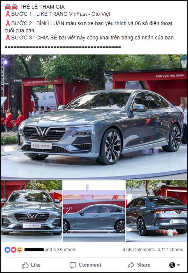 Lừa share Fanpage để nhận xe Vinfast miễn phí, hàng nghìn cư dân mạng Facebook sập bẫy tin sái cổ - Ảnh 2.