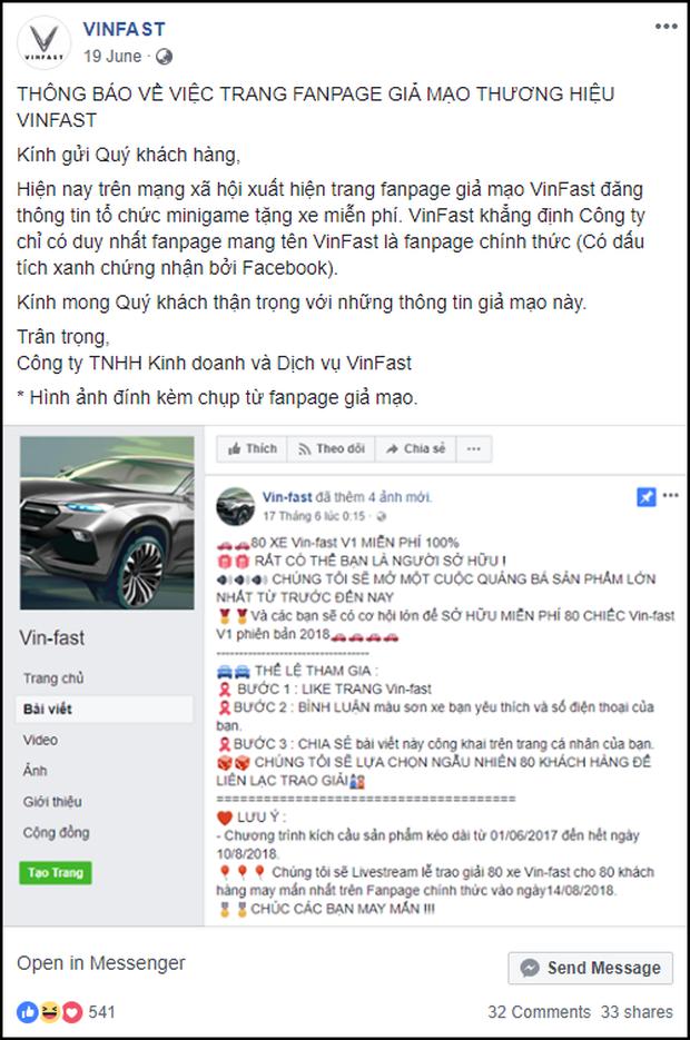 Lừa share Fanpage để nhận xe Vinfast miễn phí, hàng nghìn cư dân mạng Facebook sập bẫy tin sái cổ - Ảnh 4.