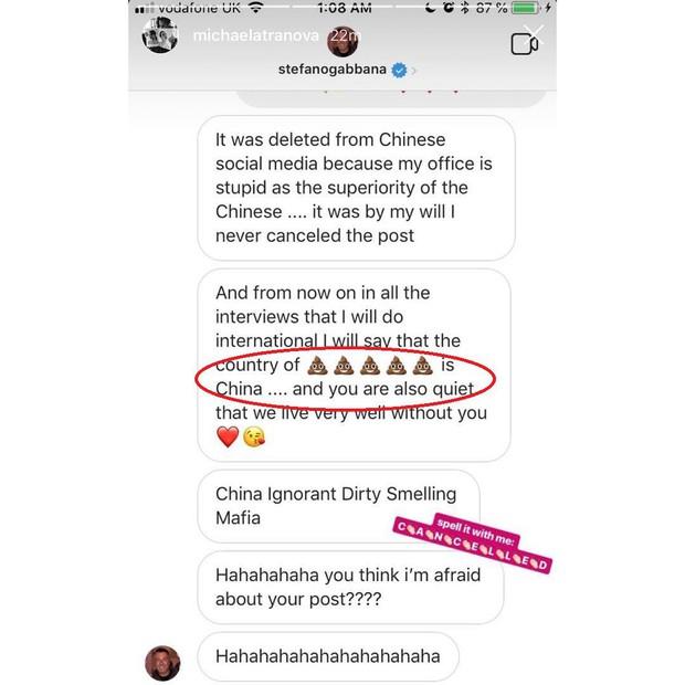 NÓNG: Cô gái gốc Việt bóc phốt D&G, tạo làn sóng tẩy chay toàn Trung Quốc tố Instagram xoá bài liên quan đến vụ việc - Ảnh 1.