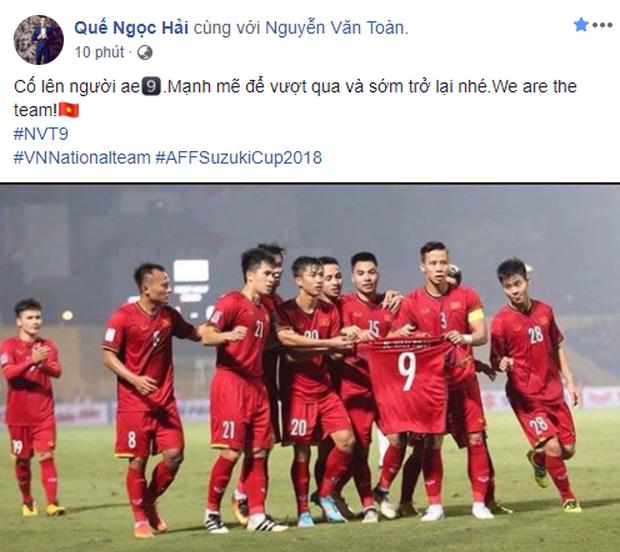 Văn Toàn bật khóc khi đồng đội giơ áo số 9 ăn mừng bàn thắng - Ảnh 5.