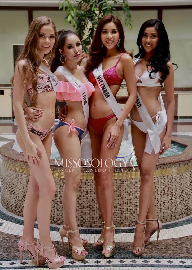 Minh Tú đọ dáng gợi cảm cùng dàn người đẹp Miss Supranational 2018 trong phần thi áo tắm - Ảnh 2.
