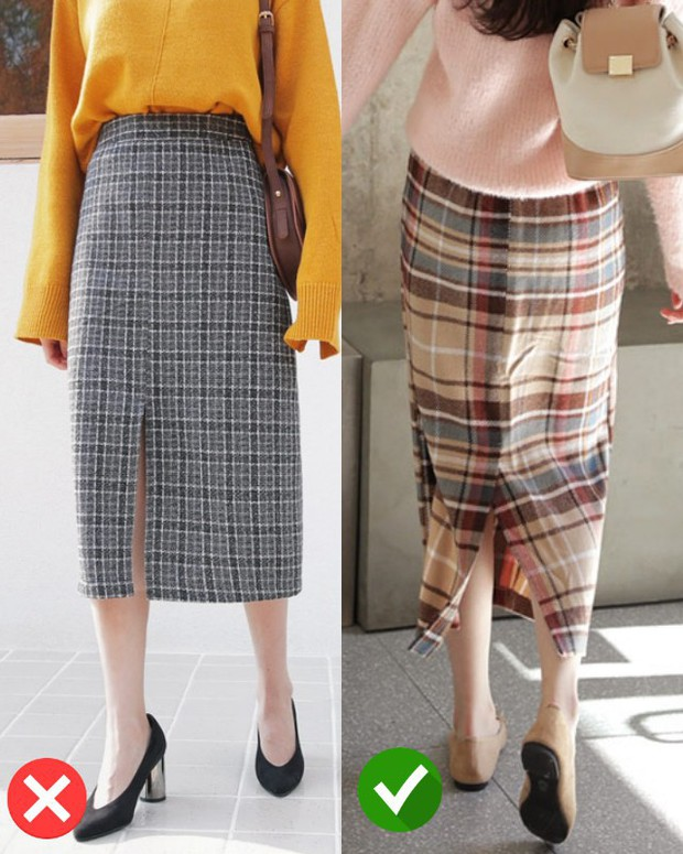 Cách phối chân váy kẻ midi cho các nàng công sở cho mùa đông - Ảnh 2.