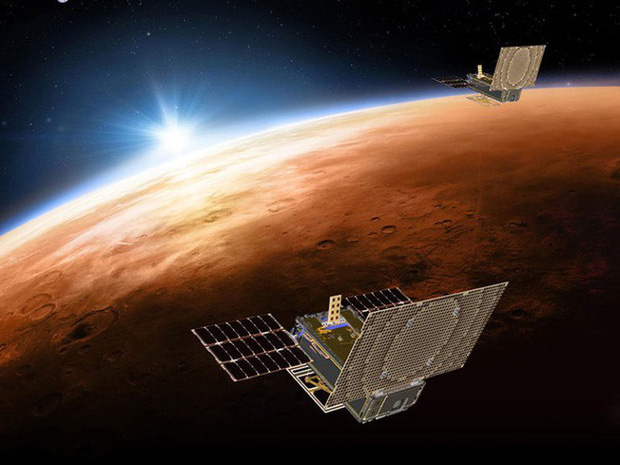 Sau 7 phút kinh hoàng, tàu thăm dò InSight của NASA đã hạ cánh thành công xuống bề mặt Sao Hỏa, đây là hình ảnh đầu tiên nó gửi về - Ảnh 3.