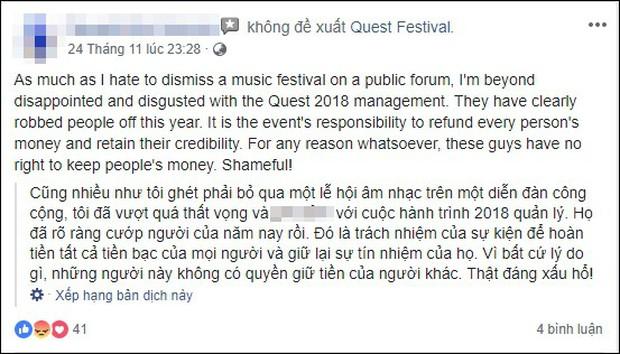 Lễ hội âm nhạc Quest Festival ở Hà Nội bị hủy vào giờ chót: Hàng nghìn khán giả vẫn đang mòn mỏi chờ được hoàn tiền - Ảnh 12.