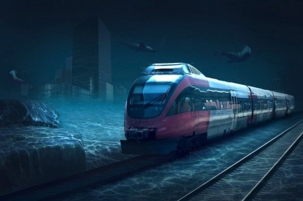 Dự án xây dựng tuyến tàu cao tốc xuyên biển đầu tiên trên thế giới - Ảnh 1.