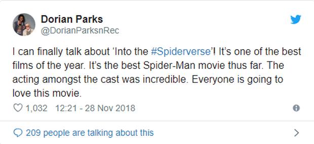 Đạt điểm tuyệt đối trên Rotten Tomatoes, Spider-Man: Into the Spider-Verse trở thành phim Người Nhện được đánh giá cao nhất trong lịch sử - Ảnh 3.