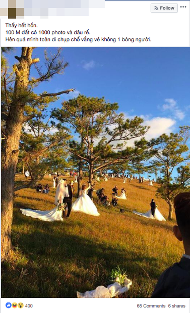 Khoảnh khắc khiến bạn nhận ra mùa cưới đã đến: 100 mét đất có 1 nghìn dâu rể trên đồi cỏ hồng Đà Lạt - Ảnh 1.