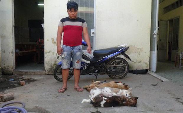 Thanh niên trộm chó vào đổ xăng thì bị bắt giữ - Ảnh 1.